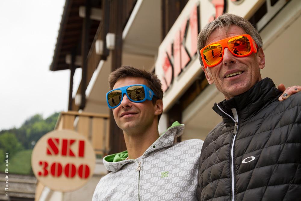 Thibauld et Gilles Hudry, gérants du magasin Ski 3000 à la Cluzaz
