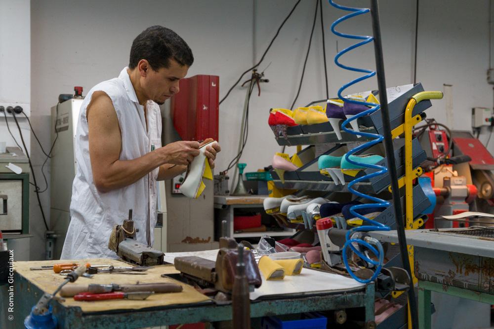 Mohamed à l'atelier montage