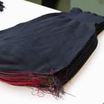 Manche de pull qui sera assemblée par les tricoteuses