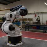 """""""Tronc"""" de robot sur lequel on ajoute les bras articulés et les têtes."""